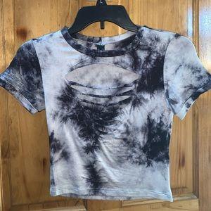 Cropped Tie Dye T-Shirt